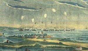 A VIEW of the BOMBARDMENT of Fort McHenry